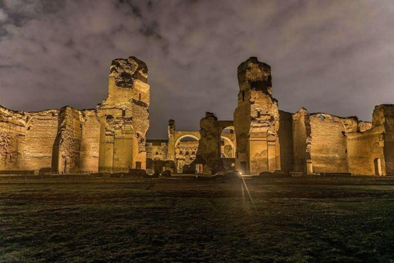 Bath of Caracalla at night
